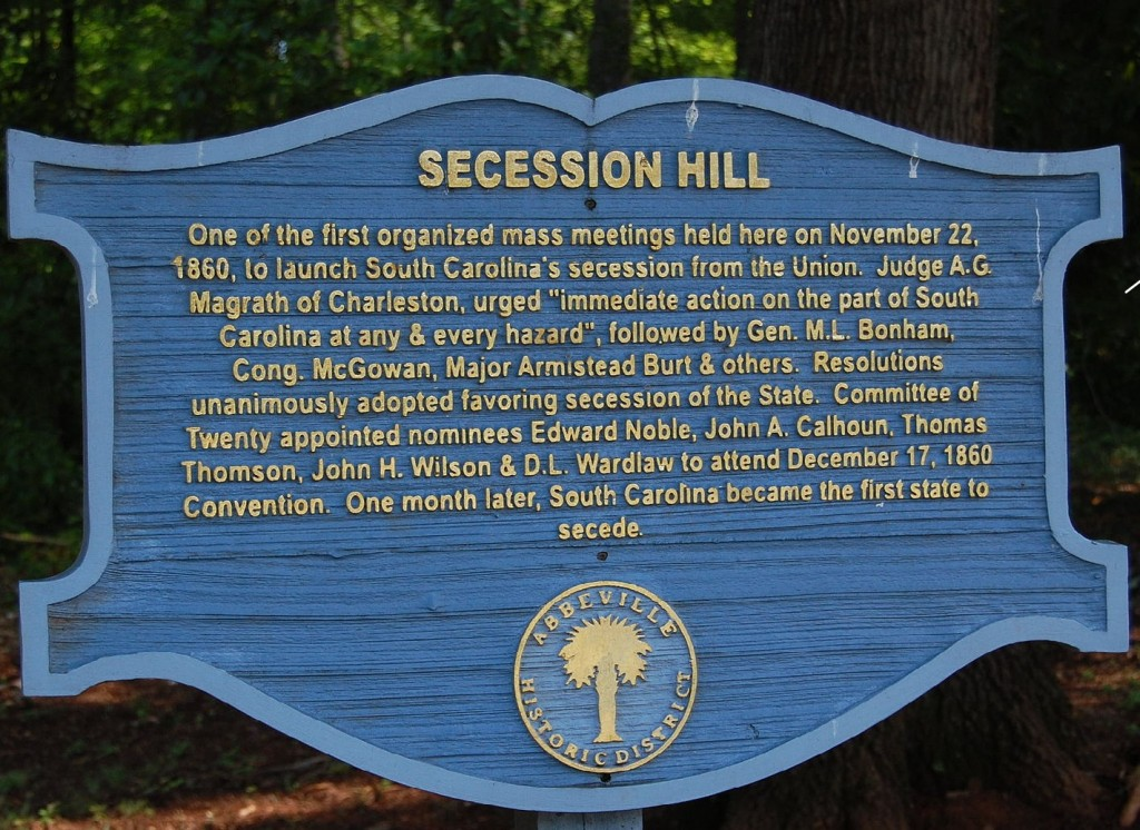 SecessionHillSign south carolina