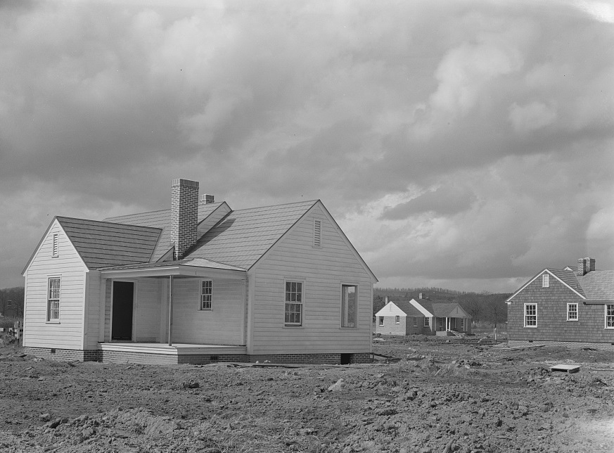 Slagheap - One of the new houses at Slagheap Village, Alabama 1937 Arthur Rothstein