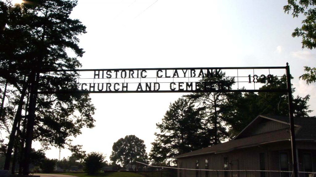 Old Clay Bank Church in Ozark built in 1829 is still