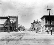 On April 9, 1874 – Three street cars for Montgomery passed down the road on a freight train in Tuscaloosa