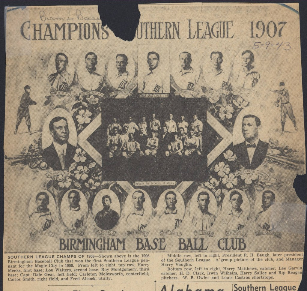 Birmingham Barons - Southern League of Champs 1906
