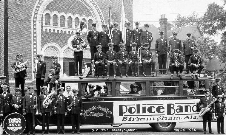 Birmingham police band - Oscar V. Hunt Collection at Birmingham Public Library 1930