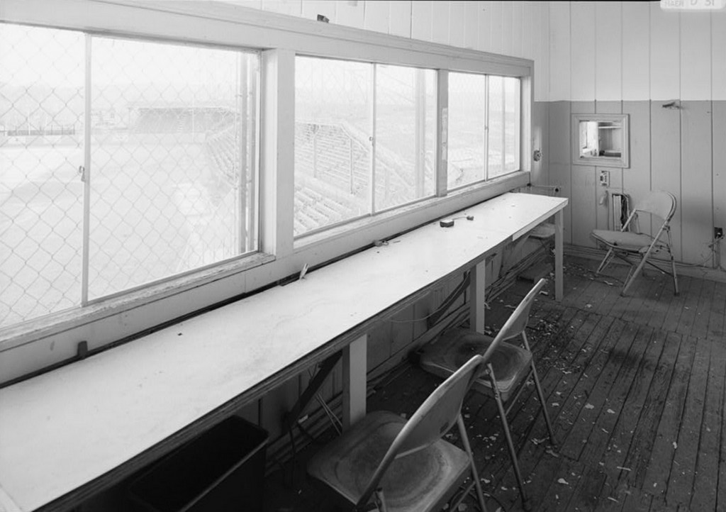 Interior view of press box