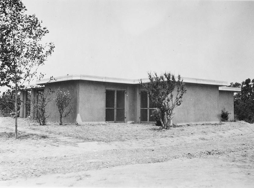 Rammed earth house. Gardendale Tract, Birmingham, Alabama 1937 Arthur Rothstein