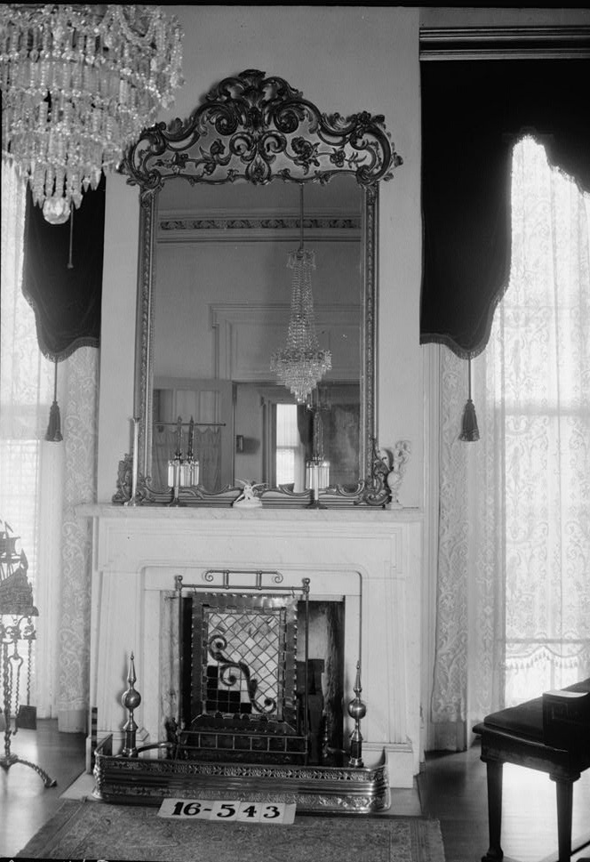 W. N. Manning, Photographer, April 3, 1934. MANTEL AND OVERMANTEL. - Grey Columns, Old Montgomery Road (Institute Road), Tuskegee, Macon County, AL