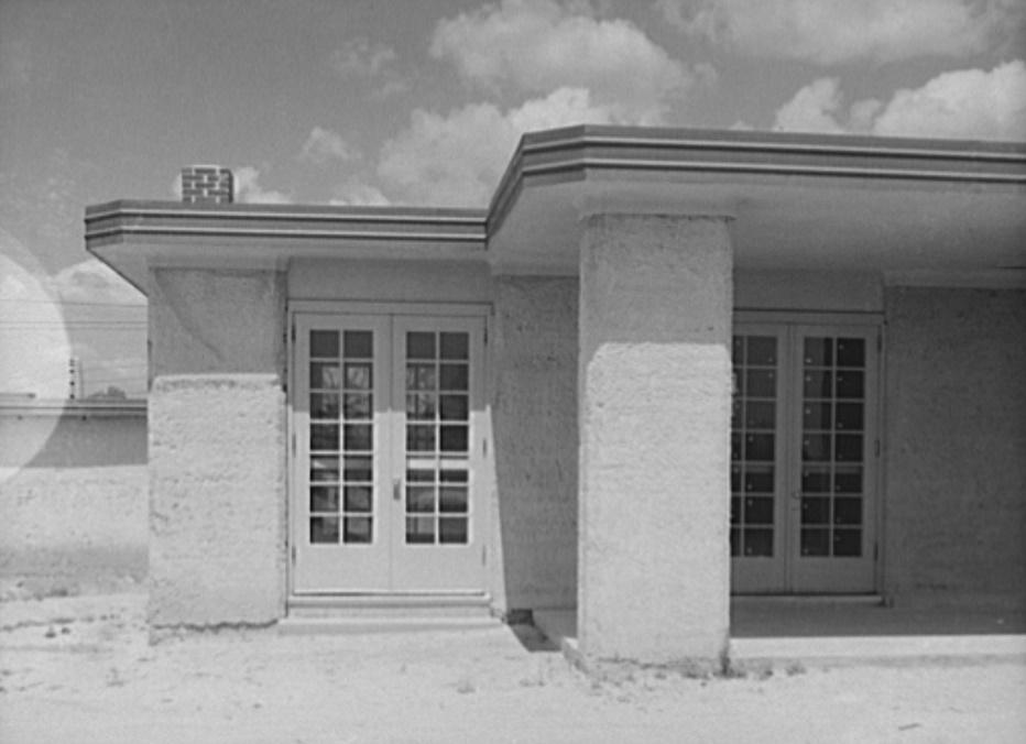 rammed earth houses 1937 Arthur Rothstein