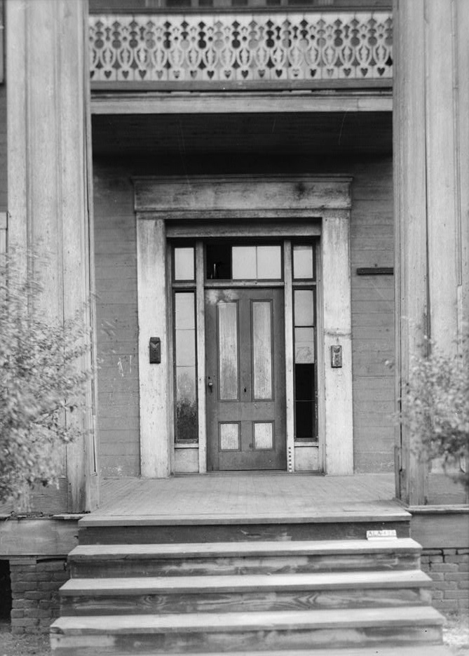 Alex Bush, Photographer, March 4, 1937 CLOSE-UP OF MAIN ENTRANCE - Benjamin Pinckney Worthington House, Sixth Avenue South, Birmingham, Jefferson County, AL