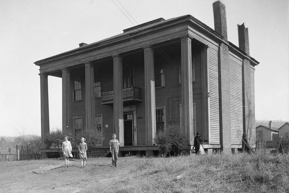 Alex Bush, Photographer, March 4, 1937 FRONT (NORTH) AND WEST ELEVATION - Benjamin Pinckney Worthington House, Sixth Avenue South, Birmingham, Jefferson County, AL