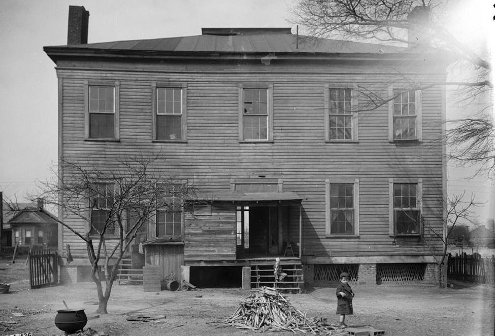 Alex Bush, Photographer, March 4, 1937 REAR (SOUTH) ELEVATION - Benjamin Pinckney Worthington House, Sixth Avenue South, Birmingham, Jefferson County, AL