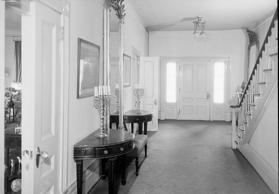Arlington - Alex Bush, Photographer, March 4, 1937 FRONT OF HALL (GENERAL VIEW) - Arlington Place, 331 Cotton Avenue, Southwest, Birmingham, Jefferson County, AL