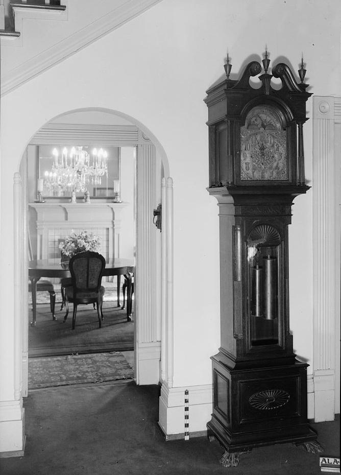 Arlington - Alex Bush, Photographer, March 4, 1937 VIEW ACROSS MAIN HALL INTO DINING ROOM - Arlington Place, 331 Cotton Avenue, Southwest, Birmingham, Jefferson County, AL