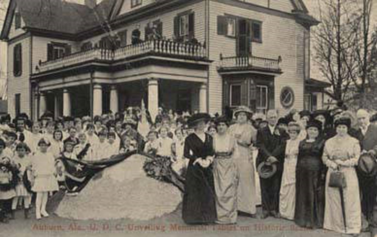 Auburn, Ala., U.D.C. Unveiling Memorial Tablet on Historic Scene ca. 1890