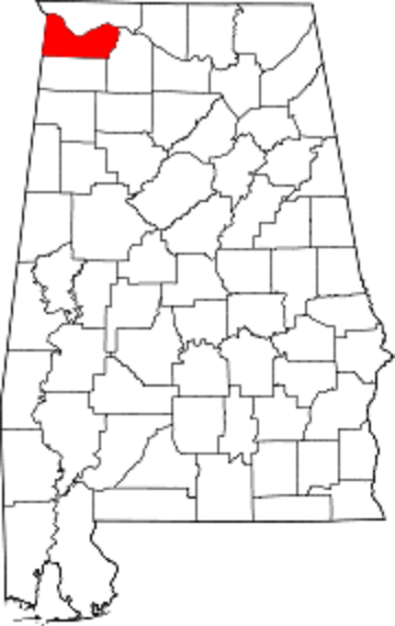 Colbert county map