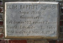 Churches were important in early Alabama – [pictures, early settlers & church members names]