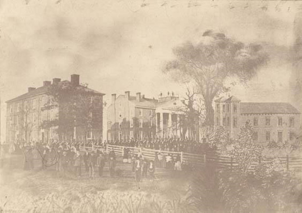 LaGrange_Military_Academy_in_Franklin_County_Alabama ca. 1850 - Alabama state archives