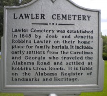 Robbins Crossroads – the names of some of the earliest citizens of Jefferson county, Alabama settled here
