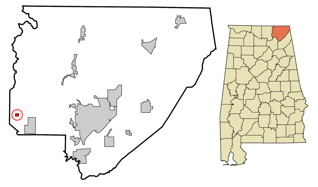 Paint rock, Jackson_County_Alabama_Incorporated_and_Unincorporated_areas_Paint_Rock_Highlighted