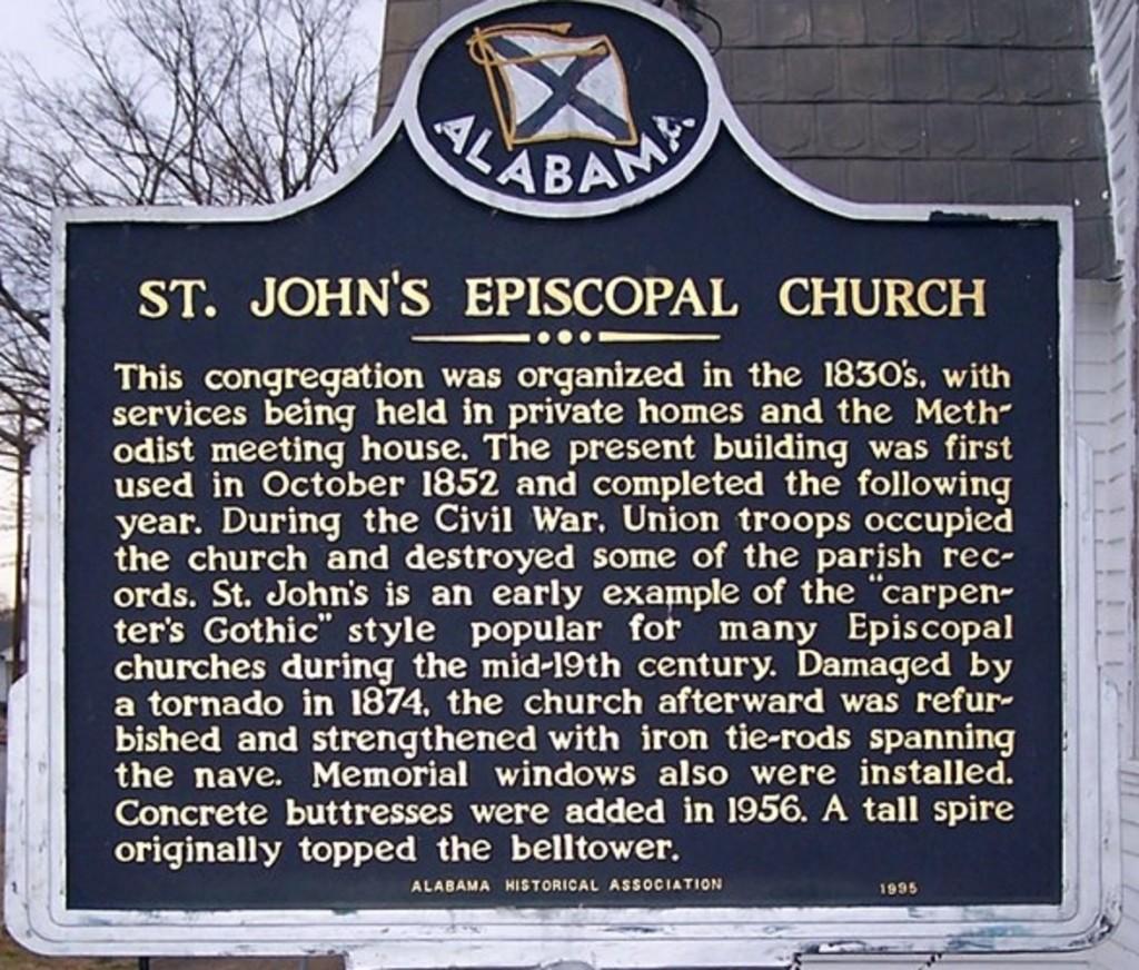 St. John's episcopal marker
