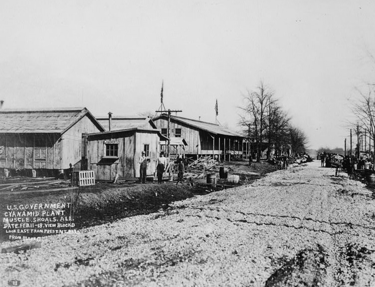 View Looking East At Block 'D', FEBRUARY 11, 1918