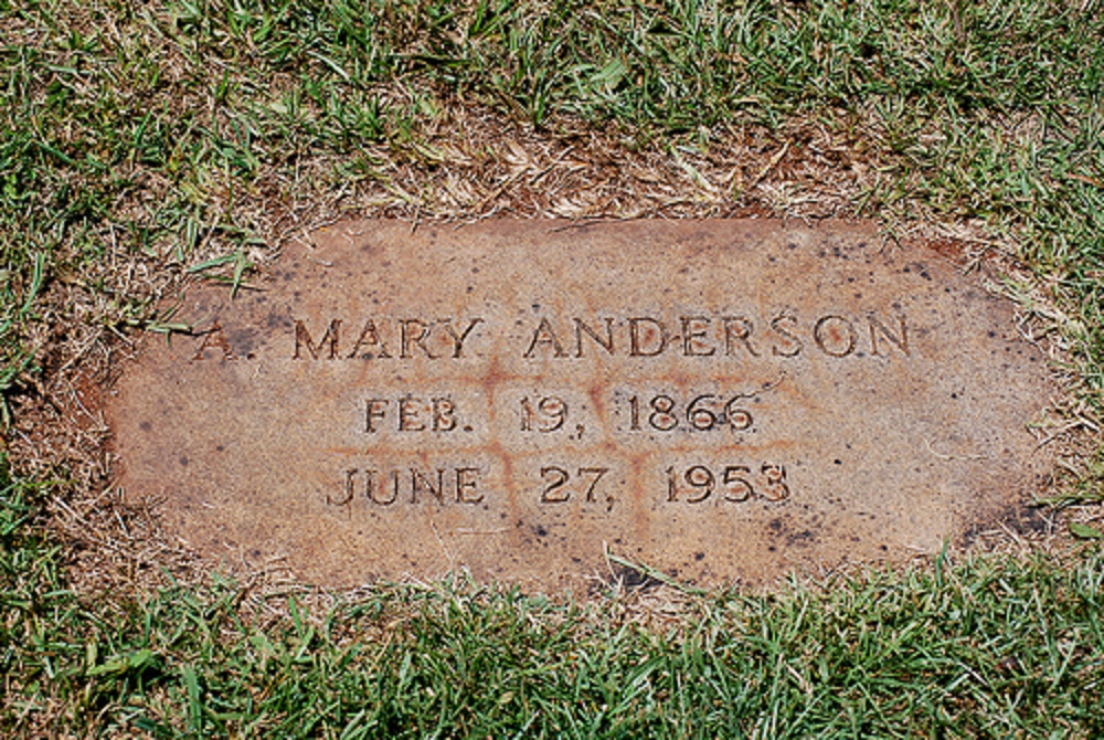 mary anderson tombstone