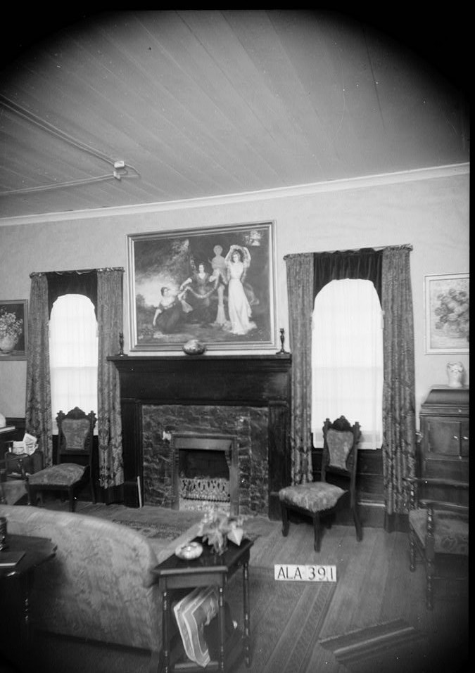 Bankhead, James Greer house Alex Bush, Photographer, March 4, 1936 EAST WALL OF LIVING ROOM - James Greer Bankhead House, U.S. Route 278, Sulligent, Lamar County, AL