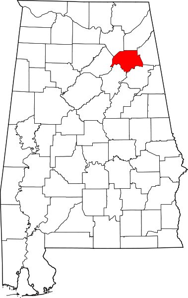 Etowah county, Alabama map