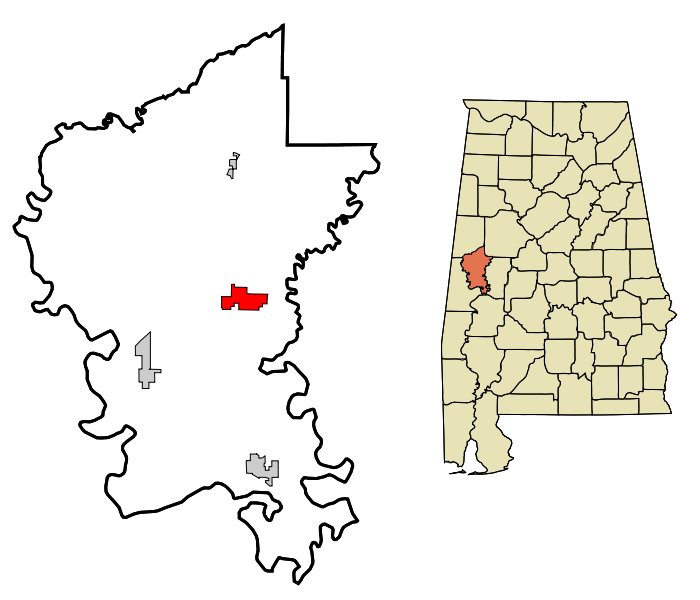 Eutaw map Greene_County_Alabama_Incorporated_and_Unincorporated_areas_Eutaw_Highlighted