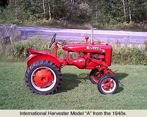 Farmall A tractor from 1940s