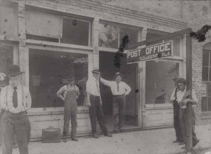 Post office in Sulligent ca. 1900 Alabama st. archives