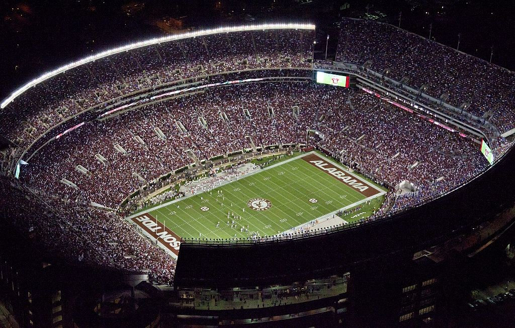 Universtiy of Alabama stadium by photographer Carol Highsmith (Library of Congress)