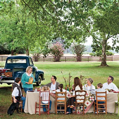 dinner table - southern living