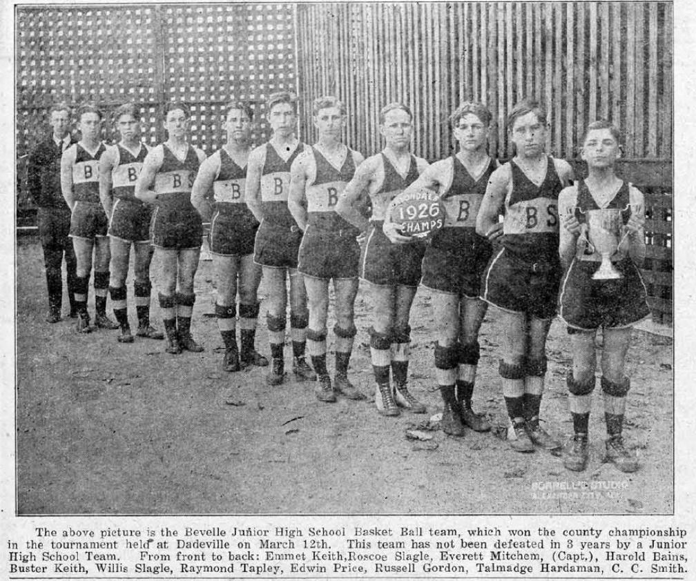 Bellevelle Basketball team 1926