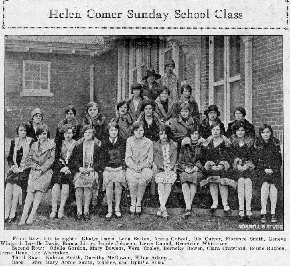 Bellevelle Sunday School Class Avondale Sun. 1927 v.4, no.01-10 (January-March)