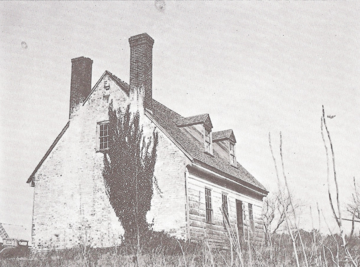 Picture of a Cottingham house built ca. 1707 in Maryland is an ancestor of Bibb County, Alabama Cottinghams
