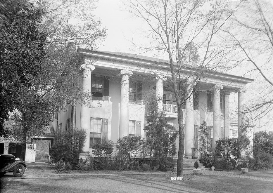 Dearing-Bagby house 1939 by photographer Frances Benjamin Johnston (Library of Congress)