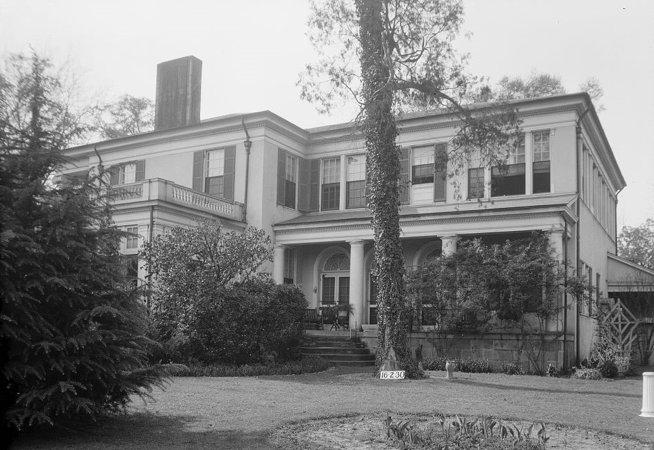 Dearing-Bagby house back 1939 by photographer Frances Benjamin Johnston (Library of Congress)