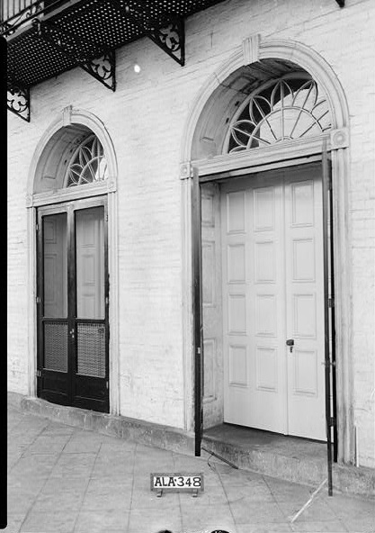 Doors of Old State Bank, Decatur, Alabama ca. 1934 by photographer W. N. Manning (Library of Congress)