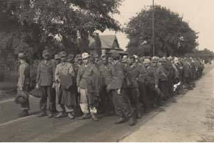 German Prisoners of War marching to camp at Aliceville1