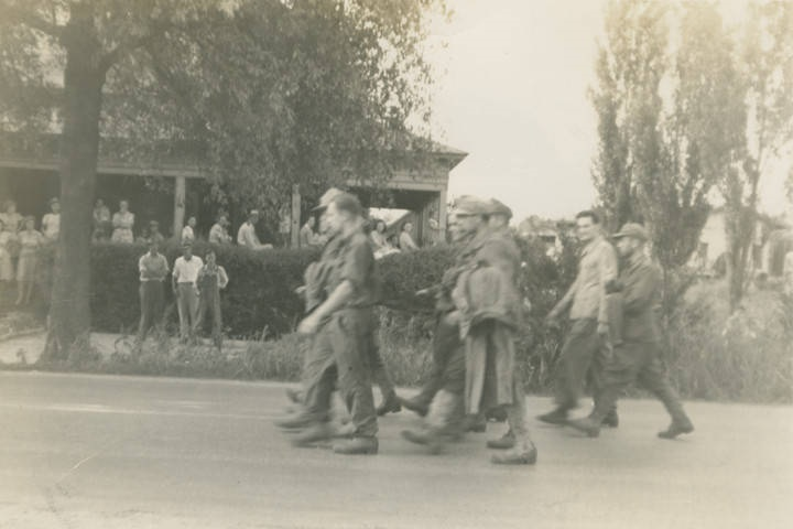 German prisoners of war marching to camp in Aliceville2