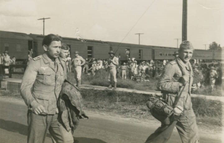 German prisoners of war marching to camp in Aliceville3