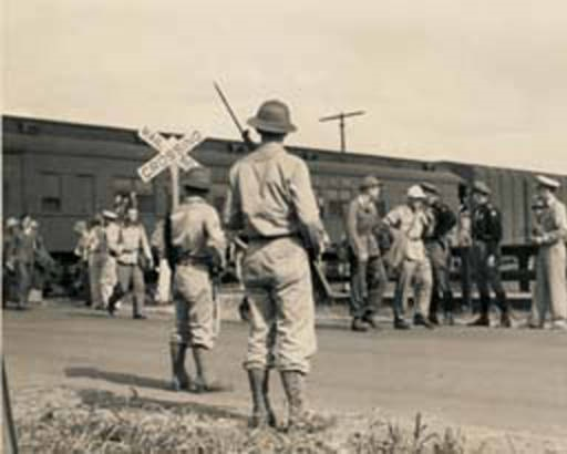 German prisoners of war marching to camp in Aliceville7