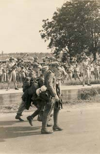 German prisoners of war marching to camp in Aliceville9