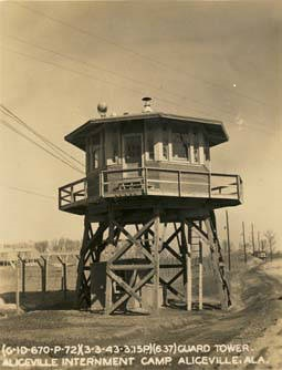 Guard Tower. Aliceville Internment Camp. Aliceville, Alabama