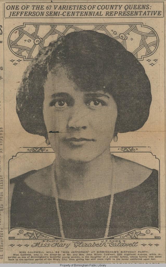 Jefferson_County_semicentennial_queen Mary Elizabeth Caldwell