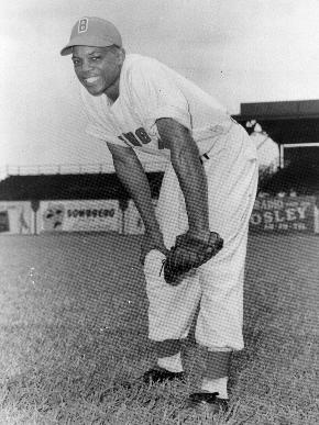 Mays in his Black Barons uniform. Image courtesy of the Birmingham Public Library Archives.
