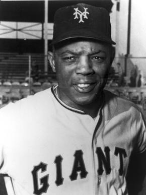 Mays in his Giants uniform. Image courtesy of Birmingham Public Library Archives
