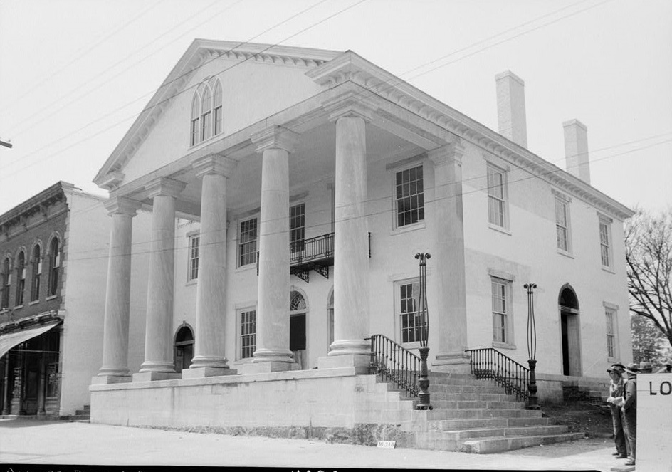 Old State Bank, Decatur, Alabama ca. 1934 by photographer 1934 by photographer W. N. Manning (Library of Congress)