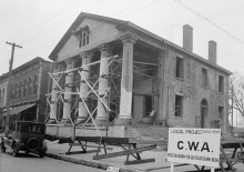Do you believe ghosts roam the halls of the old State Bank of Decatur? [see vintage photographs]