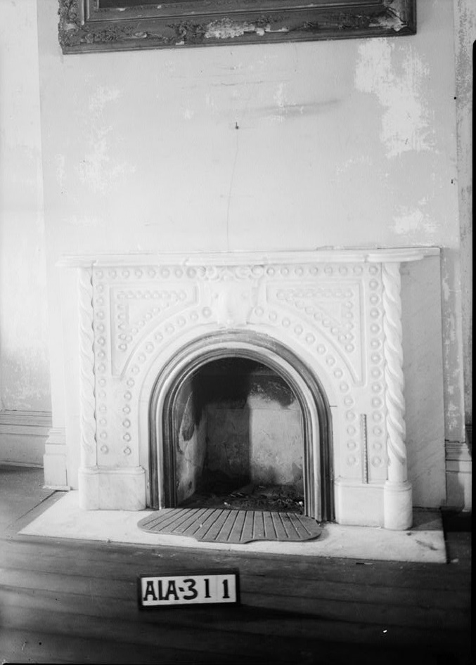 Rocky Hill Castle fireplace by photographer Alex Bush 1935 (Library of Congress)