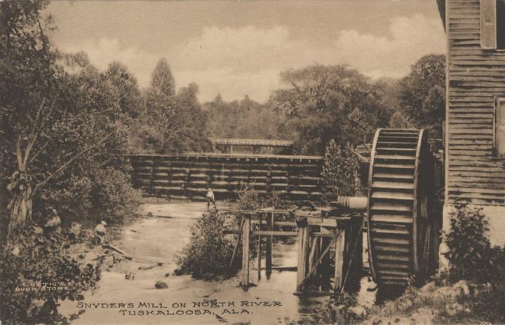 Snyder's Mill on North River, Tuskaloosa, Ala. (Alabama State Archives)